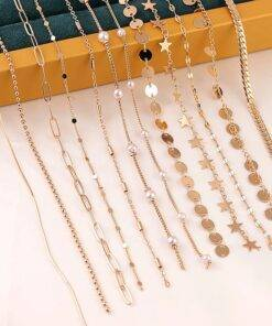 Round Star Beads Chain Bulk Gold Oval Jewelry Items