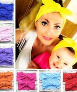 Mother & Daughter Headband Mom & Kids Items cb5feb1b7314637725a2e7: black|Green|Orange|Pink|Red|Rose red|White|yellow