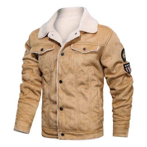 Winter Fleece Jacket Men Windbreaker Coats Fashion Men's Fashion cb5feb1b7314637725a2e7: MGH01 black|MGH01 brown|MGH01 khaki