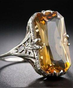 Citrine hollowed-out Carved 925 Silver Rings Exaggerated Silver Hand Jewelry For Women Gemstone Ring Jewelry Items 2ced06a52b7c24e002d45d: 10|6|7|8|9