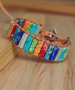 Natural Stone Handmade Chakra Bracelet Couples Bracelets All Products Crystal Stone