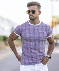Summer New Men's Fashion Plaid Hip-Hop Fashion Men's Fashion