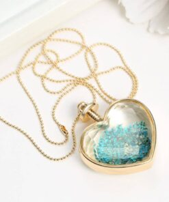 Crystal Glass Heart Pendant Necklace Necklace & Pendents