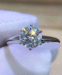Luxury 2.0ct Zirconia Diamond Silver 925 Ring New 925 Sterling Silver Ring 925 silver Jewelry Items