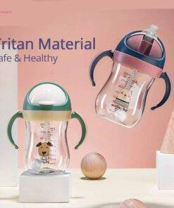 Baby Water Bottle safe with straw Baby Feeding Mom & Kids Items