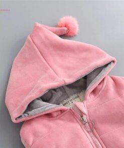 Children's Clothing Sets Winter Baby Girl Clothes Suit For Toddler Autumn Warm Hooded 3PCS Vest + Long Sleeves + pants 1-3 Year Baby & Kid's Clothing & Accessories Baby Girls Clothing Clothing Sets
