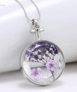 Dried Flower Necklace for Women Jewelry Necklace & Pendents Jewelry Items