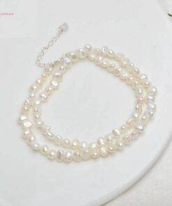 Natural Pearl Choker Necklace with 925 Silver Clasp Necklace Necklace & Pendents New 925 Sterling Silver Jewelry Items