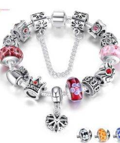 Queen Crown Beads Bracelet for Women bracelet 925 silver New 925 Sterling Silver Jewelry Items
