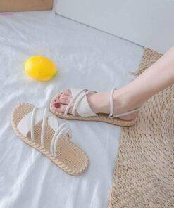Sandalias Mujer Woman Sandals Flat Thin strips Beach Sandals Fashion Men's Fashion