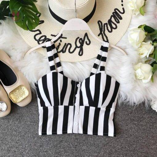 Striped Crop Top for Girls Fashion Tops & Tees Women's Fashion