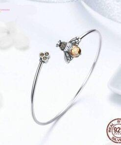 bracelet 925 silver Crystal Bee bracelet 925 silver New 925 Sterling Silver Jewelry Items