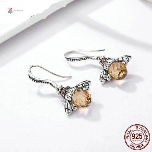 earrings 925 silver Orange Bee earrings 925 silver New 925 Sterling Silver Jewelry Items