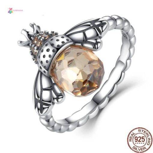 ring 925 silver Orange Bee New 925 Sterling Silver Ring 925 silver Jewelry Items