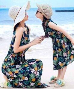 trendy mommy and me dresses floral Beach style Mom & Kids Items
