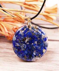 Lapis Lazuli Necklace Orgonite Crystal stone jewelry Crystal stone Mala 🔮 Crystal Stone