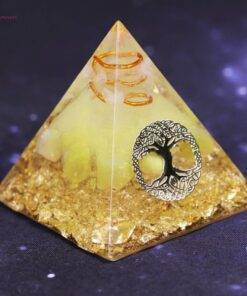 Tree Of Life Orgonite Pyramid Energized