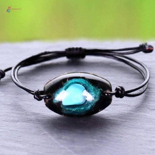 charm bracelet turquoise orgonite Crystal stone jewelry 🔮 Crystal Stone
