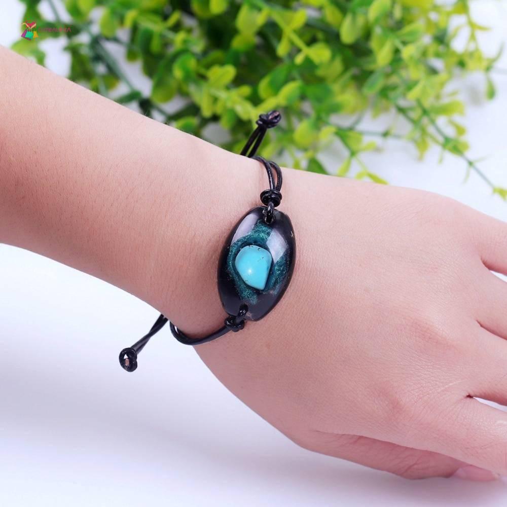 charm bracelet turquoise orgonite